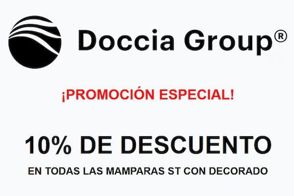 Descuento del 10% en mamparas de ducha Doccia Group