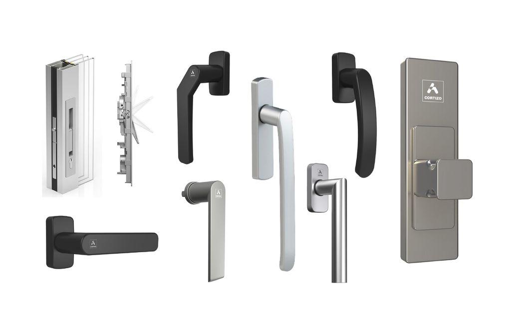 accesorios manillas ventanas pvc aluminio extremadura, badajoz, la siberia